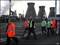 Refinería en Grangemouth, Escocia