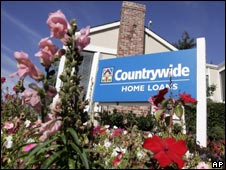 Countrywide banking and loan office in California