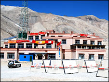 The media centre built at the foot of Everest
