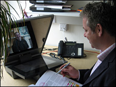 Peter Madden, head of Forum for the Future, during a videoconference