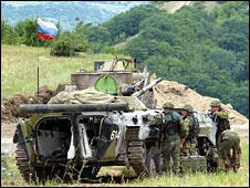 Russian peacekeepers in Georgia's breakaway region of South Ossetia (file pic)