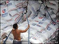 Cargamento de arroz