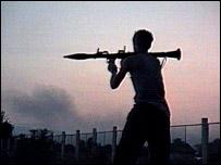 Combate en Georgia en 1992 (imagen de archivo)