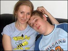 Agnieszka Uminska and her son Mark