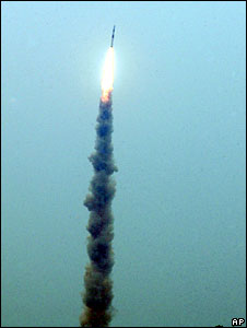 Rocket carrying 10 satellites is launched from Sriharikota