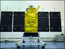 Cartosat 2A satellite during prelaunch tests