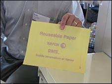 Erasable paper, BBC