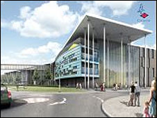 An artist's impression of the new children's hospital