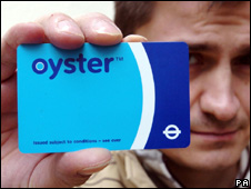 Oyster travel card used in London