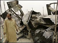 اثار المعارك في مدينة الصدر