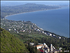 View of Abkhazia's Black Sea coast