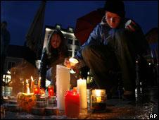 Candlelit vigil in Amstetten