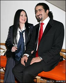 Omar Osama Bin Laden and his wife Zaina Alsabah Bin Laden