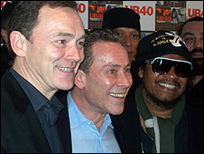 Duncan Campbell (left), Robin Campbell (centre) and Maxi Priest