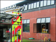 Fire damage at Walney School