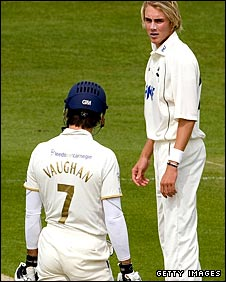 Michael Vaughan and Stuart Broad