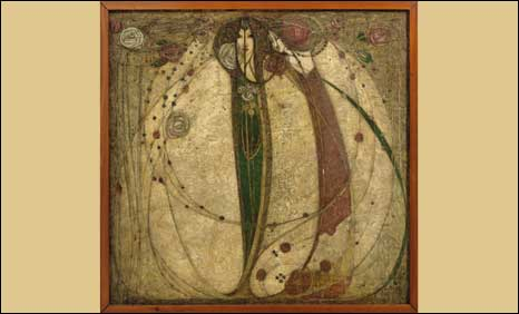 The White Rose and the Red Rose, 1902, by Margaret Macdonald Mackintosh which achieved 1,700,500
