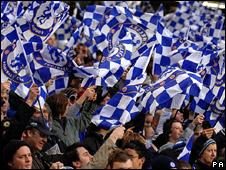 Chelsea fans celebrate