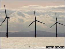 Wind turbines in Liverpool Bay