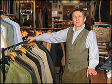 John Simons in his shop