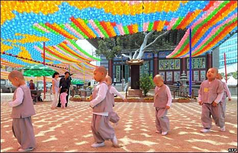 Child novice monks, Seoul, South Korea