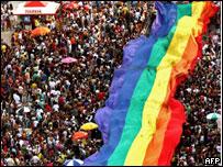 Bandera gay en Rio de Janeiro