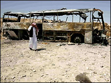 Wreckage of crashed bus - 1/5/2008