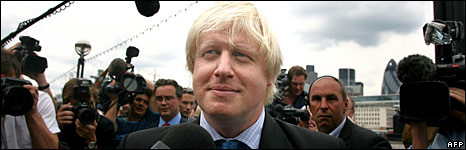 Boris Johnson at the launch of his mayoral campaign