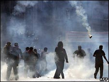 Protesters tear-gassed by riot police during May Day clashes in Istanbul