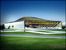 Graphic of sports centre