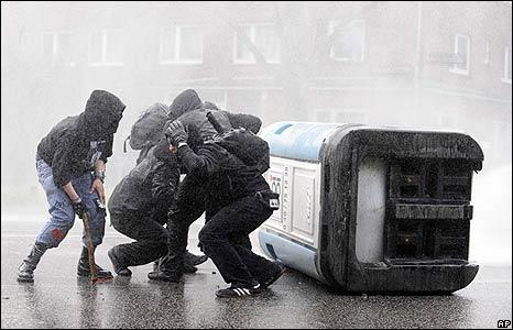 Protesters in Hamburg