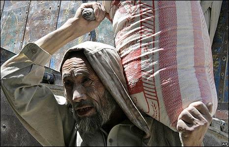 Afghan worker in Kabul