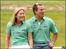 Peter Phillips with fiancee Autumn Kelly