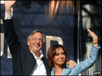 Nstor Kirchner y Cristina Fernndez