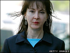 Deborah Jean Palfrey arrives at the Federal Court House in Washington, DC,  April 30, 2007 (File picture)