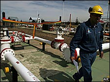 Transredes-run gas pipeline, Bolivia