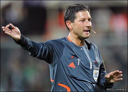 Belgian referee Frank De Bleeckere