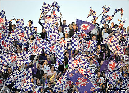 La Viola fans show their colours