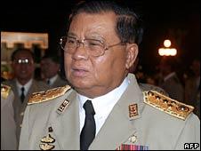 Burma's Chief Senior General Than Shwe. File photo