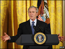 US President George W Bush, 1 May, 2008