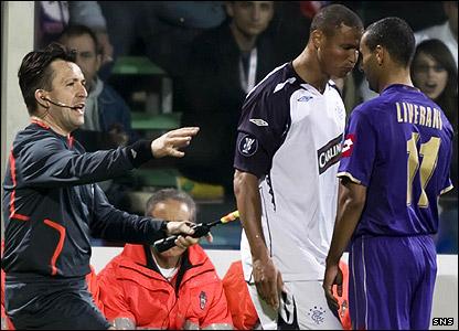 Daniel Cousin goes head to head with Fabio Liverani