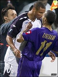 Daniel Cousin headbutts Fabio Liverani