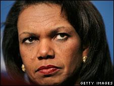 US Secretary of State Condoleezza Rice, 29 April, 2008