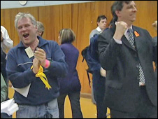 Liberal Democrats celebrate in Derby