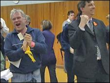 Liberal Democrats celebrate in Derby