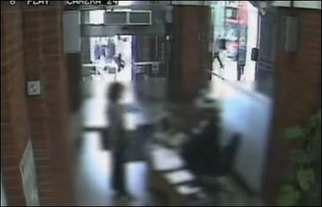 CCTV footage still from the British Medical Association