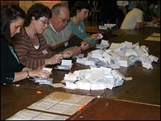 Votes being counted in Weymouth and Portland
