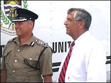 Deputy Commissioner Thomas Bennett (L) and Assistant Commissioner Ronald Scott