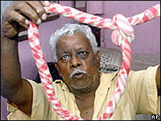 A hangman in India