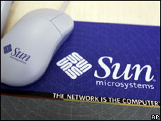 Sun Microsystems mouse and mouse-mat